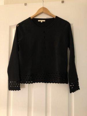 Schwarzer Cutout Pullover von Maje