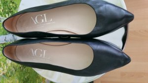 AGL Low Shoes black leather