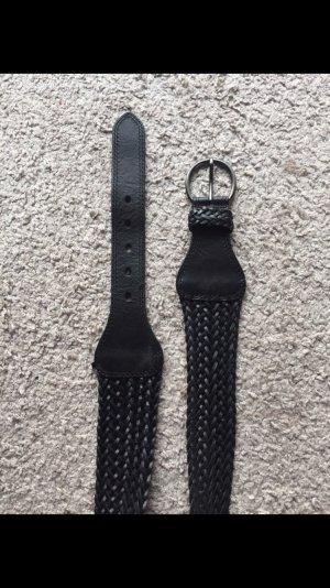 Schwarzer Damentailliengürtel, Länge: 85cm