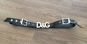 Dolce & Gabbana Leather Belt black leather