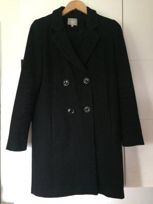 Schwarzer Doppelreihiger Mantel
