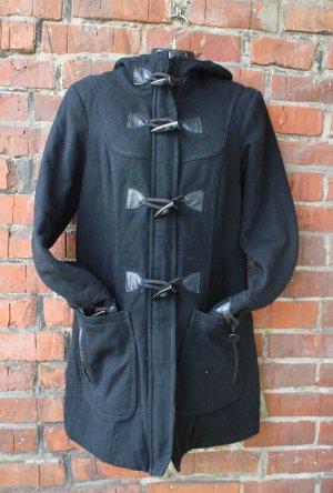 schwarzer Duffelcoat / Basic / Leder / Vero Moda