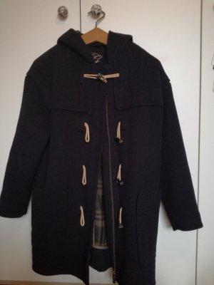 schwarzer duffle coat