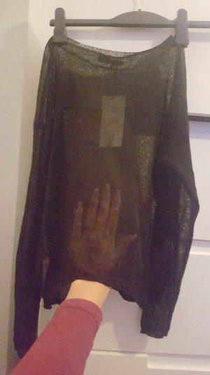 Schwarzer durchsichtiger Pullover