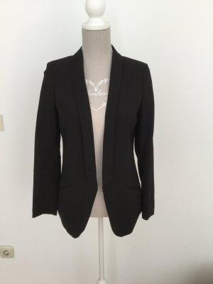 H&M Blazer de esmoquin negro Poliéster