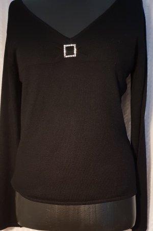 schwarzer, eleganter,festlicher, Pullover Gr.40 von Comma