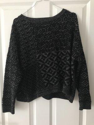 Schwarzer Ethnic Boxy Sweater