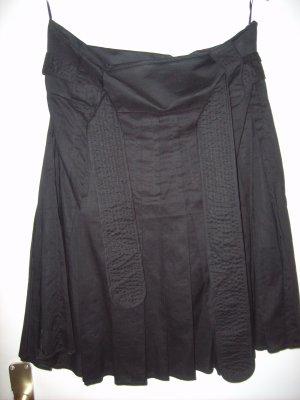Schwarzer Faltenrock von Mango Suit Gr. L NEU Baumwolle