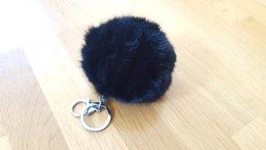 Porte-clés noir-argenté pelage