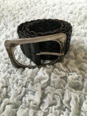 Schwarzer Flechtgürtel aus Leder von Vanzetti