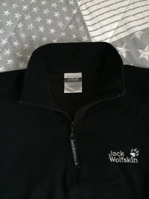Jack Wolfskin Fleece trui zwart