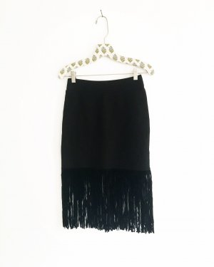 Vintage Fringed Skirt black