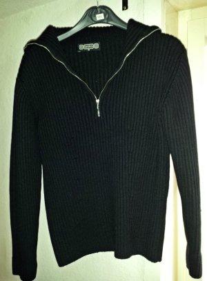 Schwarzer gemütlicher Pulli/ Pullover/ Troyer von Tandem, Gr.38