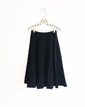 schwarzer glocken rock / high waist / vintage / granny / classy
