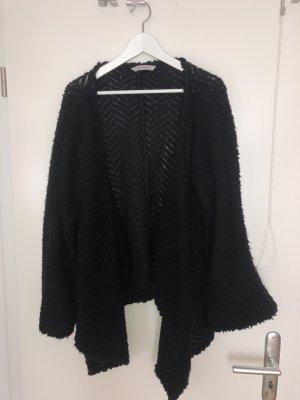 schwarzer grobstrick Cardigan