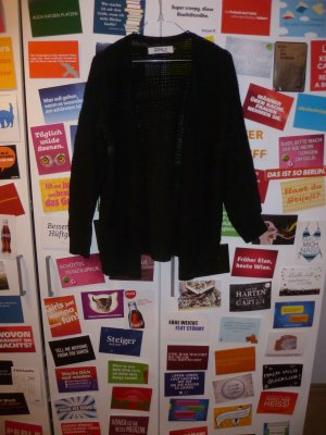 Schwarzer Grobstrick Cardigan von ONLY, Strickjacke, Basic, Winter, Blogger