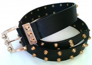 Studded Belt black imitation leather