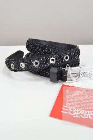 Schwarzer Gürtel von Esprit mit Pailletten