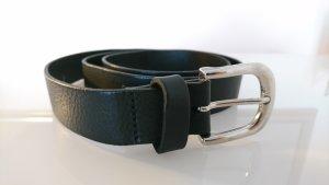 H&M Leather Belt black-light grey leather