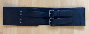 Pieces Belt black polyurethane