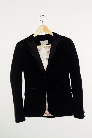 H&M Blazer en jean noir-rosé