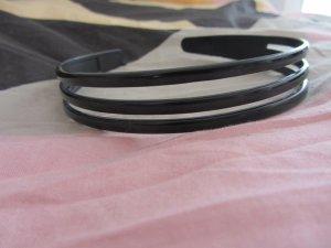 Schwarzer Haarreif - dreigeteilt