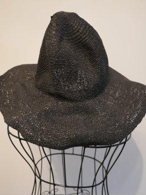 Hallhuber Sombrero de ala ancha negro Algodón