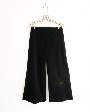 schwarzer hosenrock / vintage / high waist / boho / hippie / romanticlook
