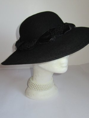 Vintage Cappello in feltro nero