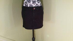 schwarzer Jeans Mini Rock