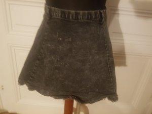schwarzer Jeans Minirock
