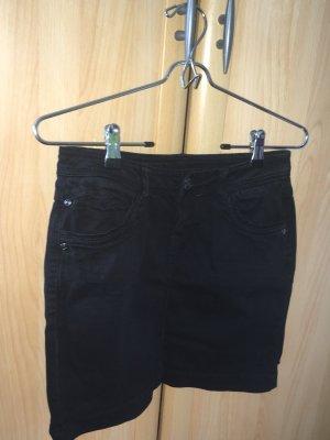 Schwarzer Jeansrock