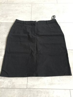 Schwarzer Jeansrock mit Taschen, TOP