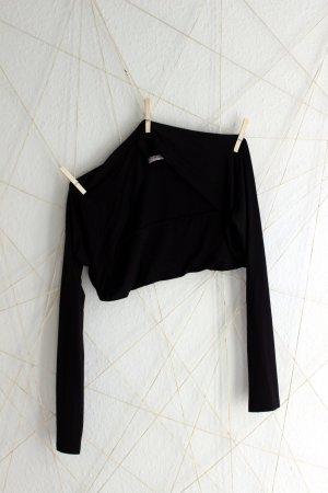 schwarzer Jersey-Bolero mit langen Ärmeln