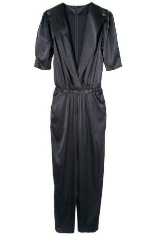 schwarzer Jumpsuit aus Seide Gr. S 36/38 Neu mit Etikett NP 200€ Overall