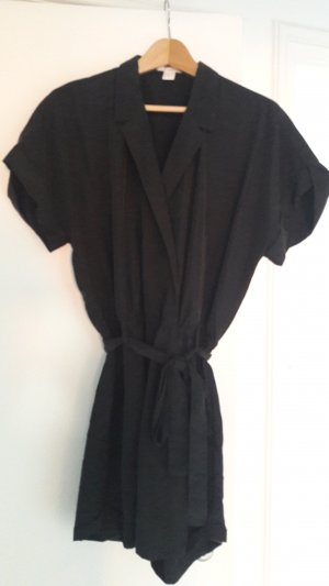 H&M Jumpsuit black-anthracite lyocell