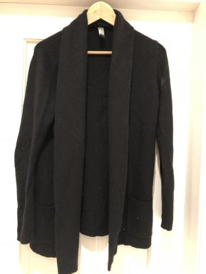 schwarzer Kaschmir-Seide-Cardigan