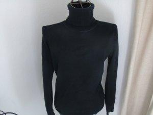 schwarzer klassicher Rollkragen Pullover von Zero Gr. 38