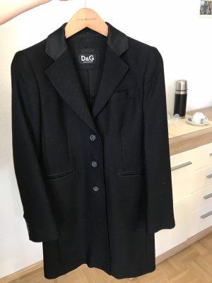 Schwarzer klassischer Mantel von D&G
