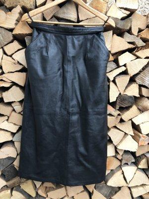 Leather Skirt black leather