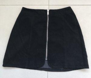 H&M Divided Falda de cuero de imitación negro