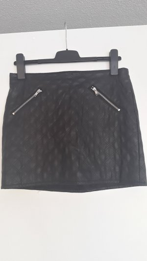 H&M Divided Gonna in ecopelle nero Poliestere
