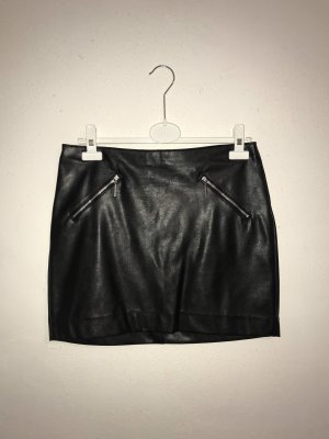 H&M Divided Leather Skirt black