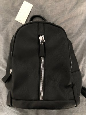 Grace Laptop Backpack black-silver-colored
