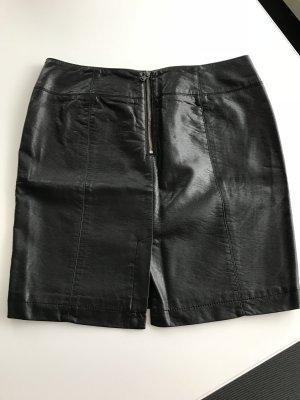 Schwarzer Kunstlederrock Gr 40 von Mexx
