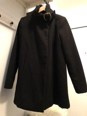 schwarzer (Kurz)Mantel MANGO [Reduziert ALLERLETZTER Preis: €11]