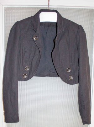 3 Suisses Short Blazer black cotton