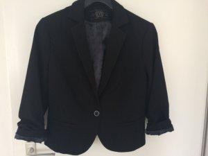 Schwarzer Kurzer Blazer mit einem Verschlussknopf