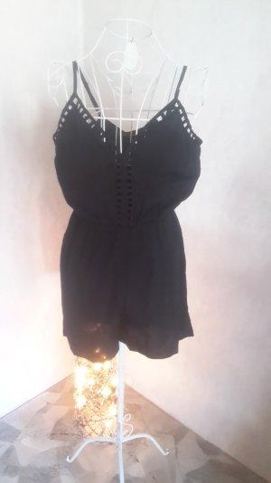 schwarzer kurzer Jumpsuit