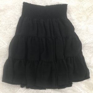 Zero Plaid Skirt black